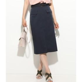 ViS ベルト付き前スリットタイトスカート