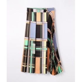 TOMORROWLAND / トゥモローランド グラフィカルプリント アシンメトリープリーツスカート