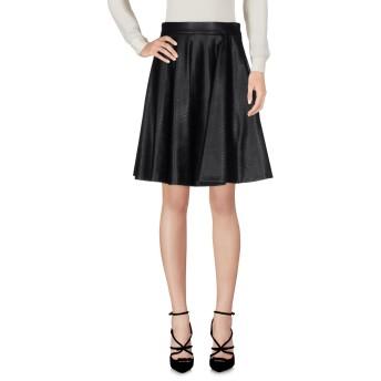 《セール開催中》ERMANNO DI ERMANNO SCERVINO レディース ひざ丈スカート ブラック 42 アセテート 70% / PBT 30%