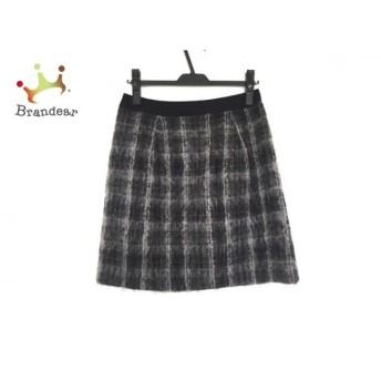 ジユウク 自由区/jiyuku スカート サイズ38 M レディース グレー×白×黒 チェック柄 スペシャル特価 20190821