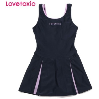 Lovetoxic ラブトキシック スカート付きスクール水着 ウスムラサキ 女児ガールズブランドスクール スクール水着 N119-906