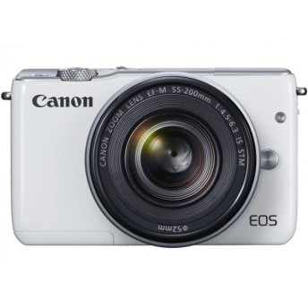 新品同様・CANON EOS M10 ダブルズームキット [ホワイト]デジタル一眼カメラ 【送料無料(沖縄・離島を除く)・代引無料】