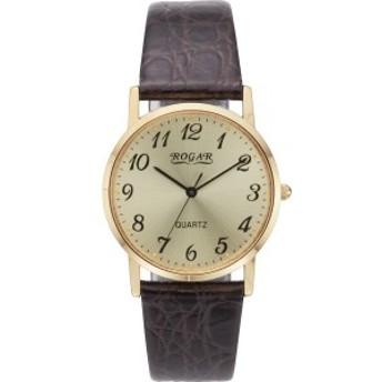 4582161699638 ロガール メンズ腕時計 ゴールド (包装・のし可)