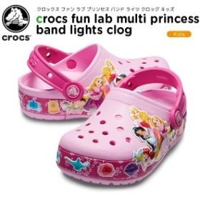 クロックス(crocs) ファン ラブ プリンセス バンド ライツ クロッグ キッズ(crocs fun lab Princess band lights clog kids )[C/A]