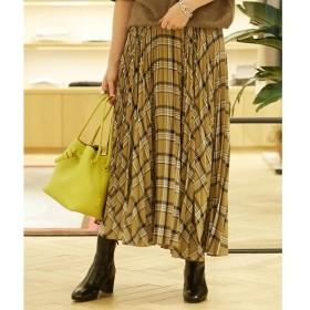 TOMORROWLAND / トゥモローランド ボイルチェックプリーツ アシンメトリースカート