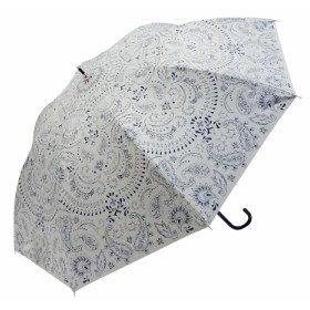 Fair mode 晴雨兼用長傘 58cm ペイズリー SJ-1911 ホワイト