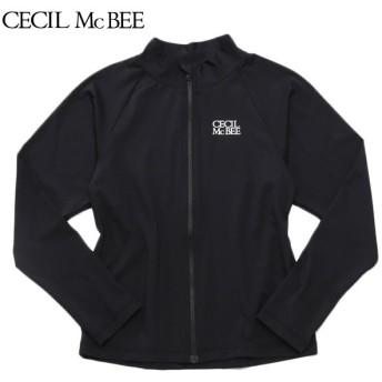 CECIL McBEE セシルマクビー 長袖スクールラッシュガード クロ 女児ガールズラッシュガード 海水小物 N119-942