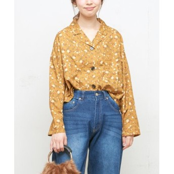 (NICE CLAUP OUTLET/ナイスクラップ アウトレット)【natural couture】オープンカラーシャツ/レディース 花柄