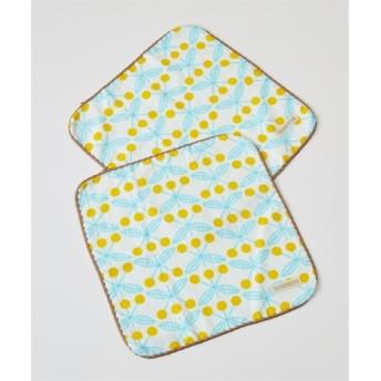 スカンジナビアデザイン「ブロム」表ガーゼ裏パイルウォッシュタオル同色2枚組 ハンドタオル・タオルハンカチ