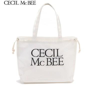 CECIL McBEE セシルマクビー 巾着入りPVCバッグ シロ 女児ガールズビーチバック 海水小物 N119-945