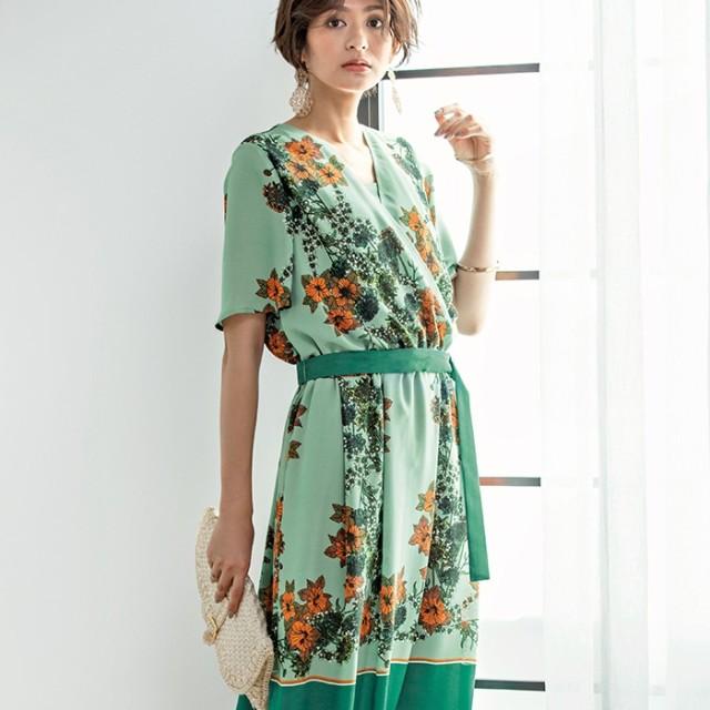 1d2baba4da4e0 RyuRyu パネル柄ロングワンピース グリーン M レディースワンピース オールインワン 春 夏 ワンピース オールインワン レディースファッション