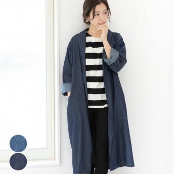 その他アウター(コート・ジャケットなど) - relaclo レディース ファッション ゆったり 大きいサイズ 体形カバー ロングコート スプリングデニムコートガウンオーバーサイズ 羽織り