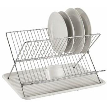 水切りかご ラック デッシュラック 折り畳み 一般家庭用 皿立て X型 水切りトレー キッチン用品 送料無料