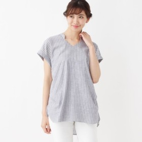 [マルイ]【セール】ストライプスキッパーシャツ/シューラルー(レディス)(SHOOLARUE Ladies)