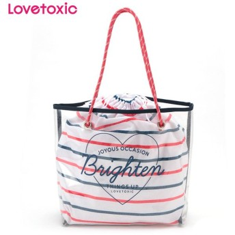 Lovetoxic ラブトキシック 内袋付きクリアラメトートバッグ コイアオ 女児服飾 ガールズビーチバック 海水小物 N119-961