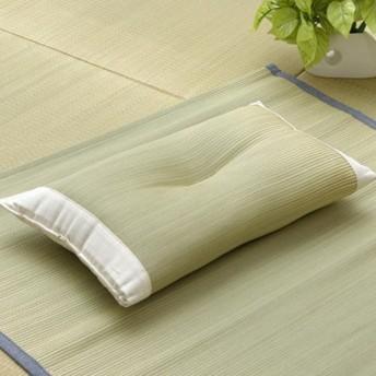 純国産 い草枕 ピロー 『アスク 低反発枕』 約50×30×10〜12cm 3626219