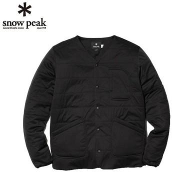 スノーピーク カーディガン メンズ レディース フレキシブルインサレーション カーディガン SW-18AU010 BK snow peak