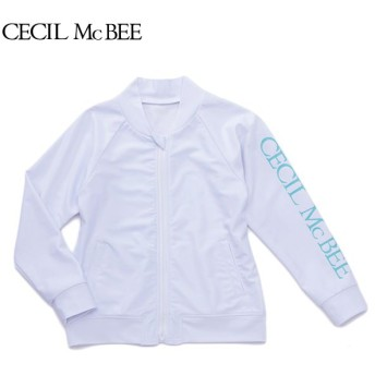 CECIL McBEE セシルマクビー 長袖バックプリントラッシュガード シロ 女児ガールズラッシュガード 海水小物 N119-928