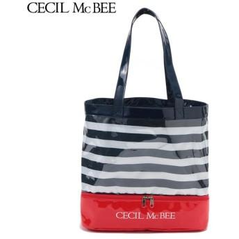 CECIL McBEE セシルマクビー ボーダー二重底 コイアオ 女児ガールズビーチバック 海水小物 N119-943