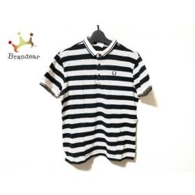 フレッドペリー FRED PERRY 半袖ポロシャツ サイズL メンズ 美品 白×黒 ドット柄/ボーダー 新着 20190523