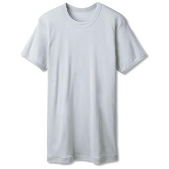【メンズ】 男の綿100%消臭・抗菌 半袖クルーネック(2枚組) - セシール ■カラー:ライトグレー ■サイズ:5L,3L,S,L,LL,M