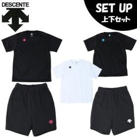 デサント DESCENTE バレーボールウェア 上下セット ジュニア プラクティスシャツ + プラクティスパンツ DOR-B8990 + DOR-B8986