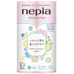 ネピア トイレットペーパーフラワーシンフォニーの香り  ダブル  (12ロール) 〔トイレットペーパー〕