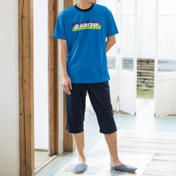 【メンズ】 吸汗・速乾リラクシングウエア(lotto) - セシール ■カラー:ブルー ■サイズ:LL,M,L,3L