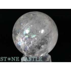 ☆置石一点物☆【天然石 置き石】丸玉 レインボー水晶 約51mm No.16