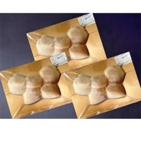 北海道産帆立貝柱燻製(3パック入り)