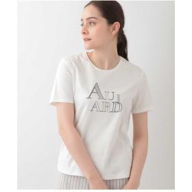 CHRISTIAN AUJARD 【洗える】コンパクトヤーンスムースTシャツ Tシャツ・カットソー,ホワイト