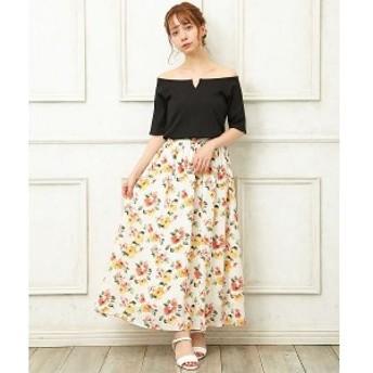 イング(INGNI)/花柄ギャザーロングスカート