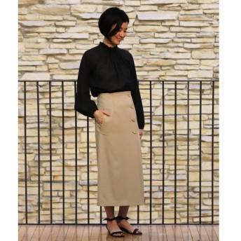 TOMORROWLAND / トゥモローランド ウールギャバジン Iラインラップスカート