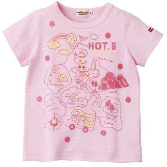 [マルイ]【セール】[80/90cm] Tシャツ(スラブ天竺 / 地図 / 男の子・女の子)/ミキハウス ホットビスケッツ(MIKIHOUSE HOT BISCUITS)