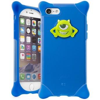 BoneCollection ディズニー マイク Phone Bubble 7/8 スマホケース ストラップ付き シリコン素材 2層式カバー (ブルー)