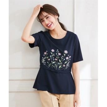スタクロ ブーケ刺しゅうカットソープルオーバー (大きいサイズレディース)Tシャツ・カットソー