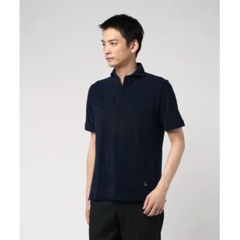 GUY ROVER / パイルポロシャツ ネイビー/MEDIUM(エストネーション)◆メンズ ポロシャツ