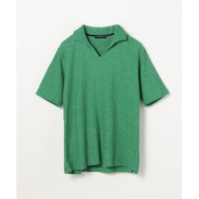 【40%OFF】 トゥモローランド ヴィンテージパイル スキッパーポロ メンズ 55グリーン XS 【TOMORROWLAND】 【セール開催中】