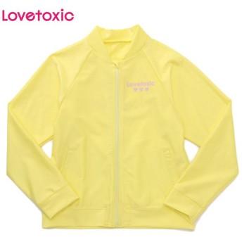 Lovetoxic ラブトキシック ブルゾンラッシュガード ウスキイロ 女児服飾 ガールズラッシュガード 海水小物 N119-970