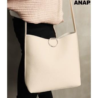 【セール開催中】ANAP(アナップ)リングデザインポーチ付バッグ