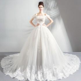 ウエディングドレス レディース 素敵な ベアトップ ブライダルドレス 上品な トレーンタイプ 花嫁ドレス ロングドレス オシャレ ウエディ