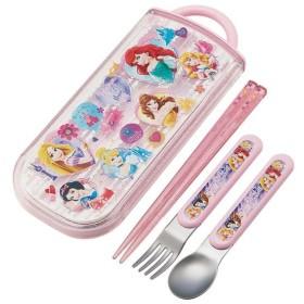 pos.439803 プリンセス Disney Princess 食洗機対応スライドトリオセット(名入れスペース付お箸) TCS1AM
