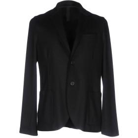 《送料無料》HARRIS WHARF LONDON メンズ テーラードジャケット ブラック 46 バージンウール 100%