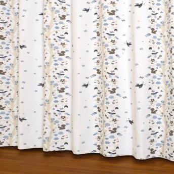 ユニベール 遮光ドレープカーテン ボスカート 100×135cm ブルー 2枚入