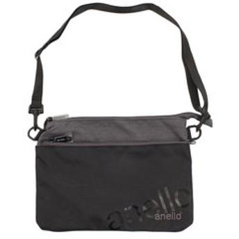 【Super Sports XEBIO & mall店:バッグ】[オンライン価格]アネロ(anello)Wロゴサコッシュバッグ AT-B2761-BK
