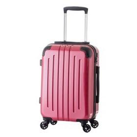 5000円以上送料無料 【機内持ち込み可】 軽量スーツケース/キャリーバッグ 【ピンク】 29L 2.6kg ファスナー 大型キャスター TSAロック