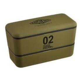 お弁当箱 日本製 ANCIENT 長角ネストランチ 2段 730ml カーキ