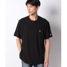 (MARUKAWA/マルカワ)【Champion】大きいサイズ メンズ チャンピオン 半袖 Tシャツ ワンポイント 刺繍 ブランド/メンズ ブラック