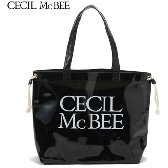CECIL McBEE セシルマクビー 巾着入りPVCバッグ クロ 女児ガールズビーチバック 海水小物 N119-945