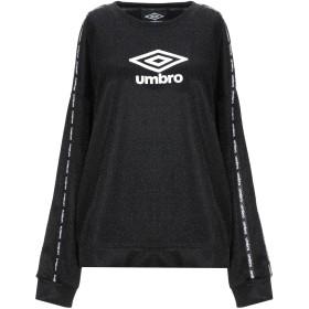 《期間限定 セール開催中》UMBRO レディース スウェットシャツ ブラック L レーヨン 65% / ナイロン 22% / 金属繊維 9% / ポリウレタン 4%